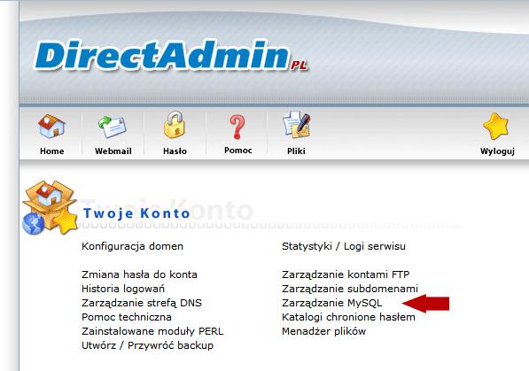 Hosting - baza danych