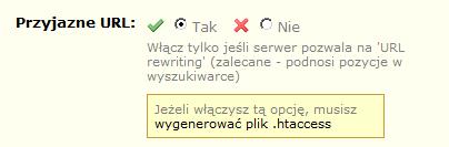 Przyjazne adresy URL w Prestashop