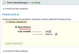 Moduł Prestashop - Przelewy24.pl